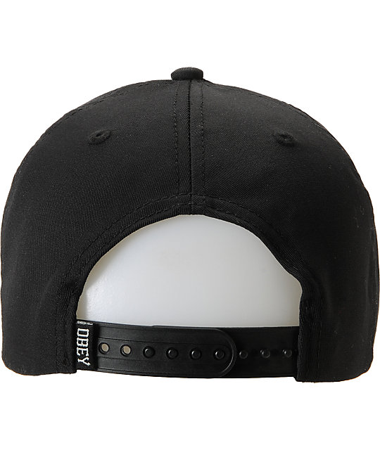 Obey Double OG Black Snapback Hat