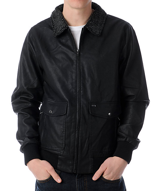 Obey Downtown Black Bomber Jacket