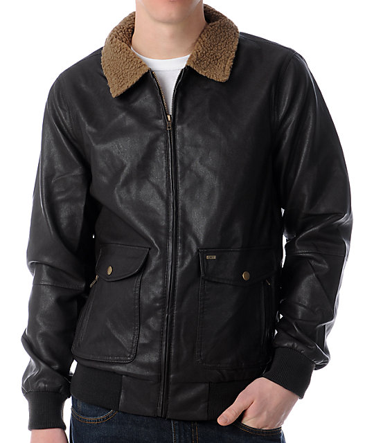 Obey Downtown Brown Bomber Jacket