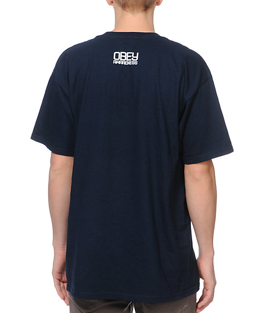 Obey Drop In The Bucket Navy T-Shirt