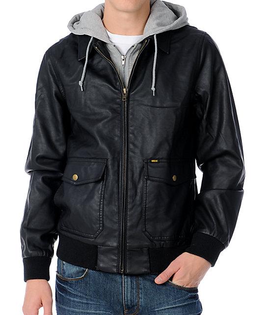 Obey Easton Black Bomber Jacket