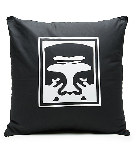 Obey Eighty Nine Black Pillow