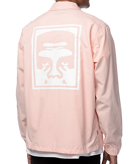 Obey Eighty Nine Pink Graphic Coaches Jacket | Zumiez