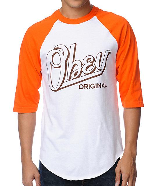 Encore Orange & White Baseball T-Shirt