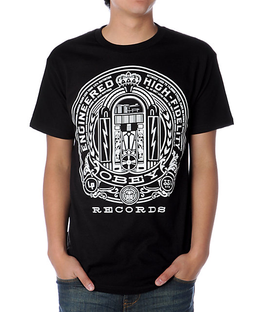 Obey Engineered High Fidelity Black T-Shirt