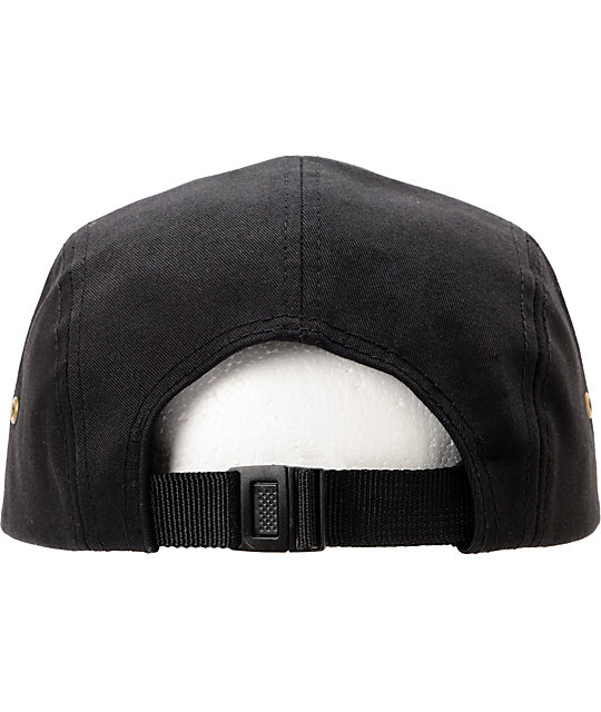 Obey Expedition Black 5 Panel Hat