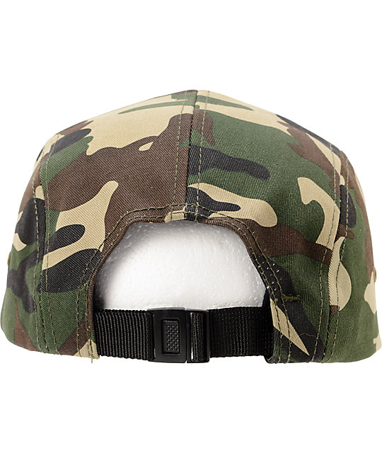 Obey Expedition Camo 5 Panel Hat