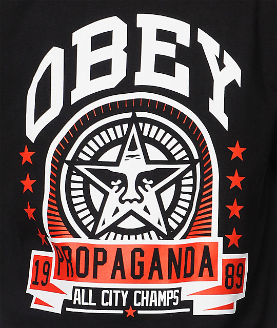 Obey Extra Innings Black T-Shirt