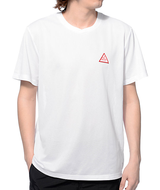 Obey Federation White Mesh T-Shirt