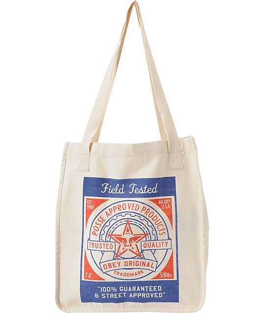 Obey Feedsack Natural Tote Bag