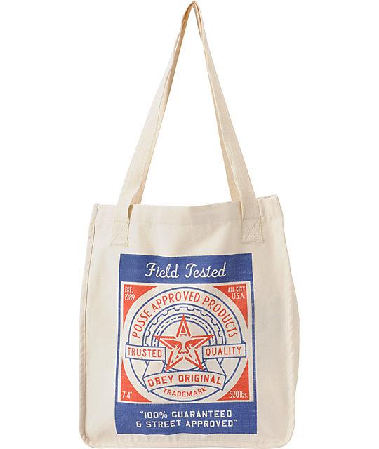 Obey Feedsack Natural Tote Bag