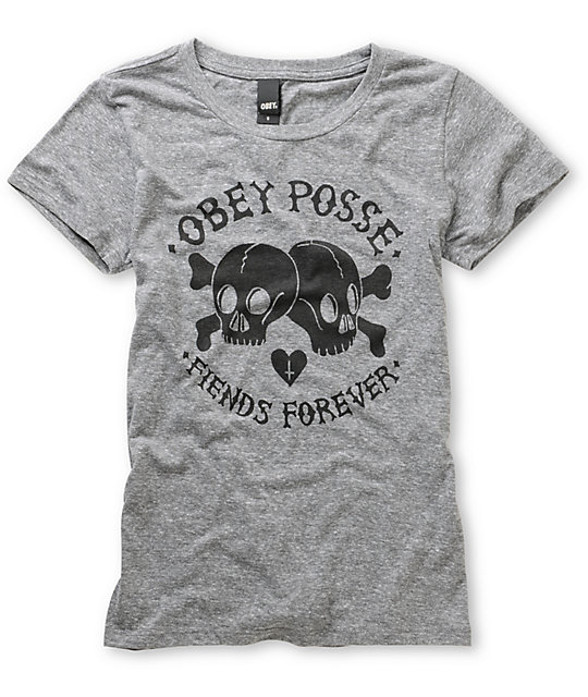 Obey Fiends Forever Heather Grey T-Shirt