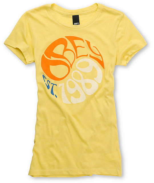 Obey Filmore Yellow T-Shirt