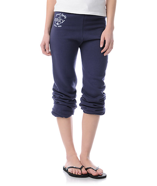 Obey Finest Anchor Navy Blue Sweatpants