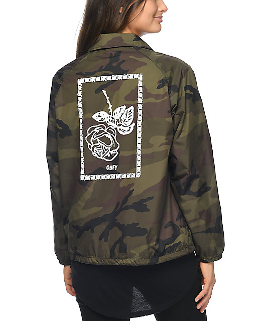 Obey Fleur Camo Coaches Jacket | Zumiez