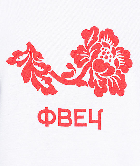 Obey Flower Delancey White Womens Crew Neck Sweatshirt