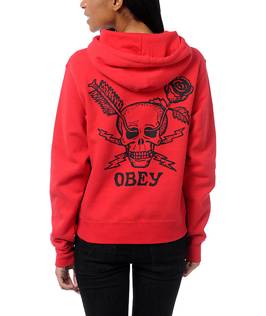 obey forces red pullover hoodie at zumiez pdp. Black Bedroom Furniture Sets. Home Design Ideas