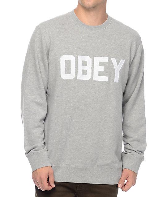 Fordam Heather Grey Crew Neck Sweatshirt