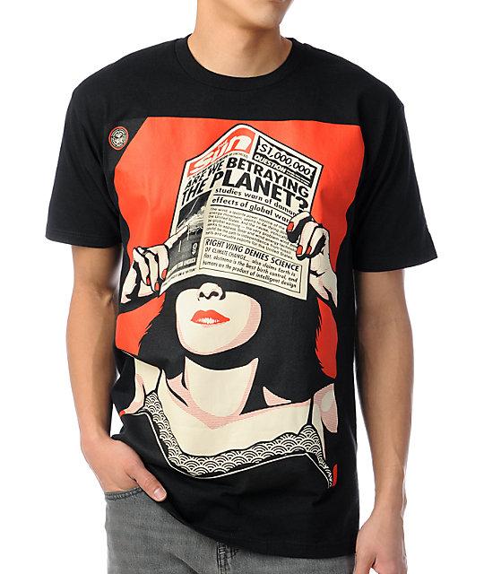 Obey Found Black T-Shirt