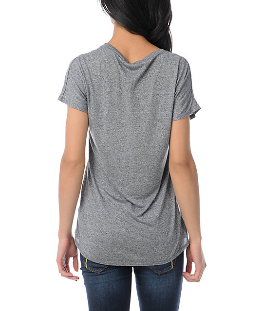 Obey From The Ground Up Mock Twist Grey T-Shirt