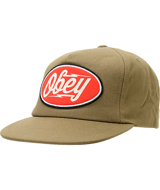 Obey Gasoline Loden Snapback Hat