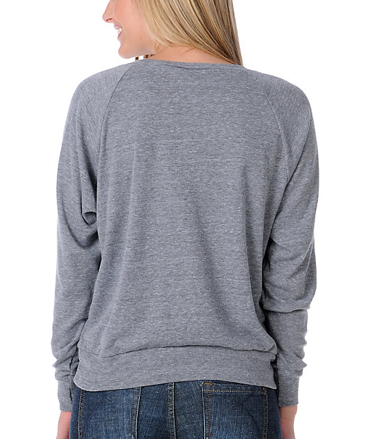 Obey Genuine Article Grey Raglan Top