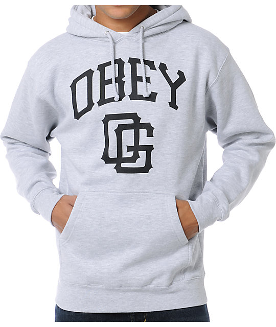 Obey Gigantes Heather Grey Pullover Hoodie
