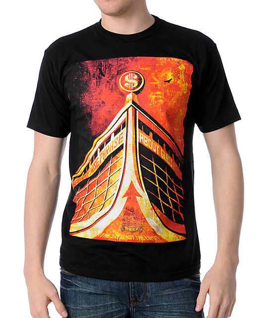 Obey Glass Houses Black T-Shirt