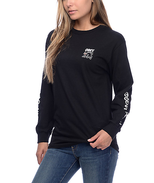 Womens Plain Black T Shirt