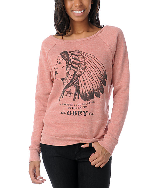 Obey Good Relation To Earth Crew Neck Sweatshirt