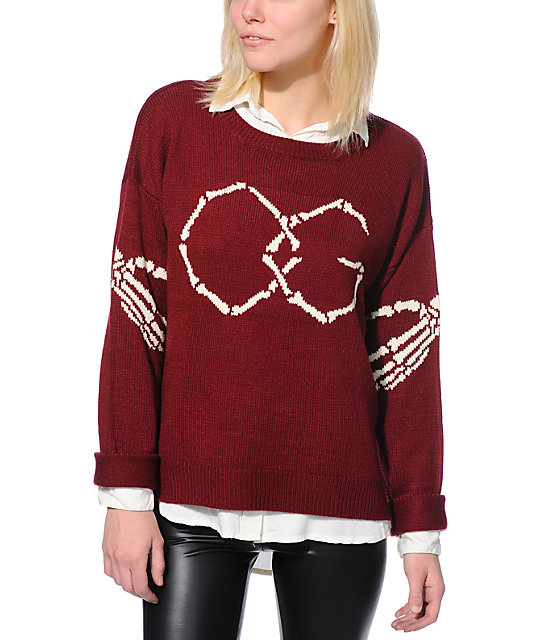 Obey Got Cha Burgundy Sweater