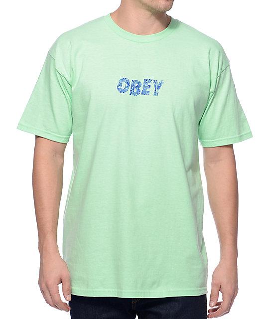 Obey graveyard camiseta de color menta zumiez for Mint color t shirt
