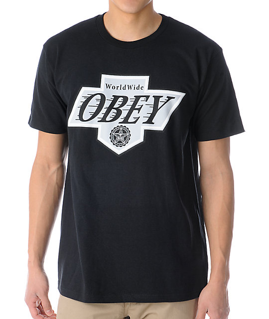 Obey Great One Black T-Shirt