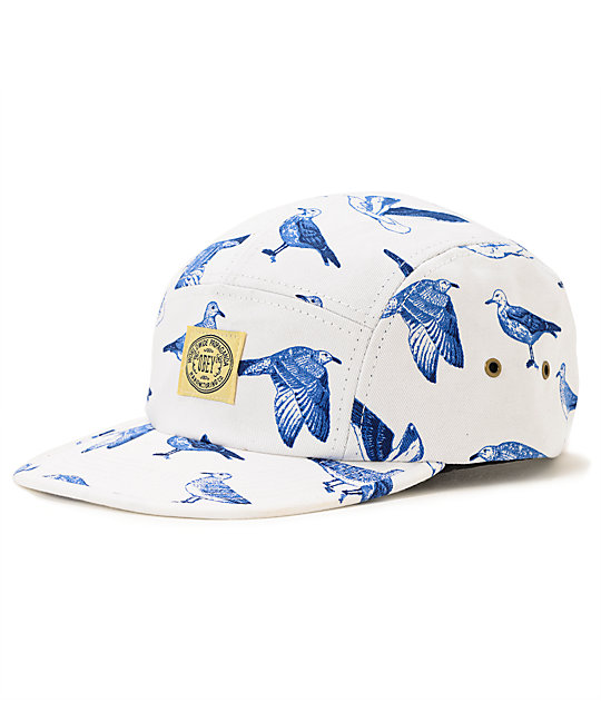 Obey Gulls White 5 Panel Hat
