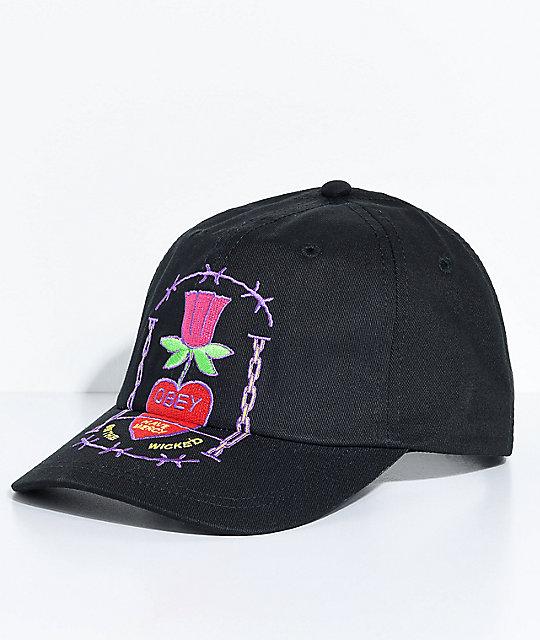 Obey Hailey Black Baseball Hat