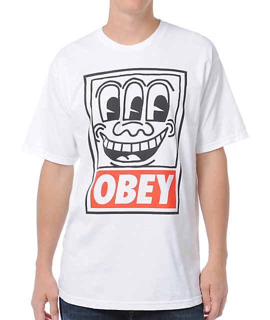 Obey Haring Eyes White T-Shirt