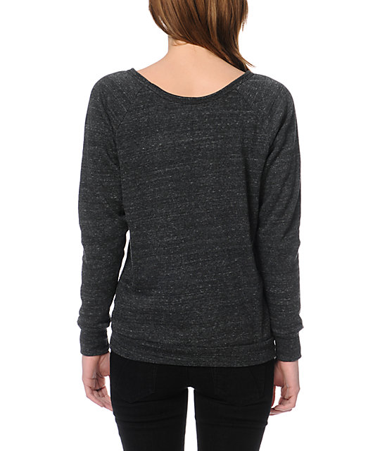 Obey Has A Posse Heather Grey Crew Neck Sweatshirt