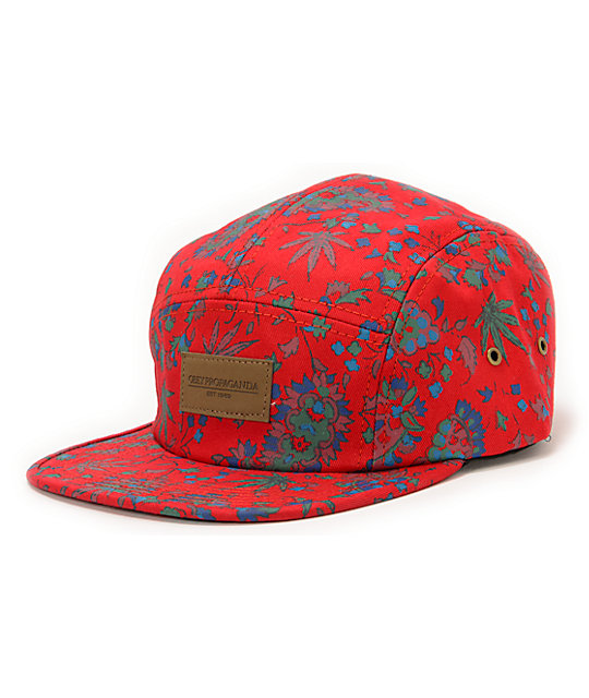 Obey Healer Red 5 Panel Hat