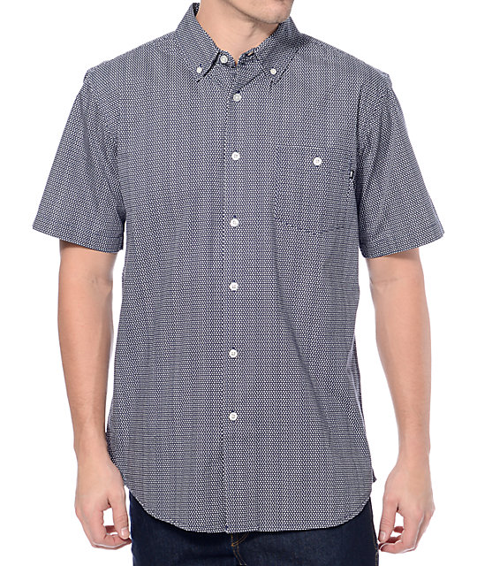 Obey Hendrick Blue Button Up Shirt