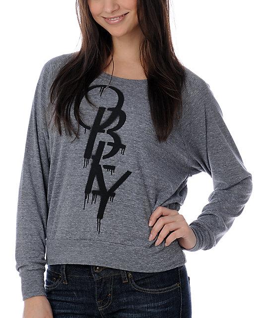 Obey High Fashion Stencil Grey Top