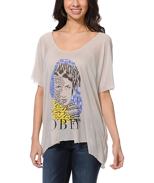 Obey High Jungle Grey Harmony Top