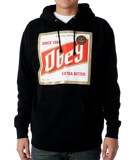 obey high life black pullover hoodie. Black Bedroom Furniture Sets. Home Design Ideas