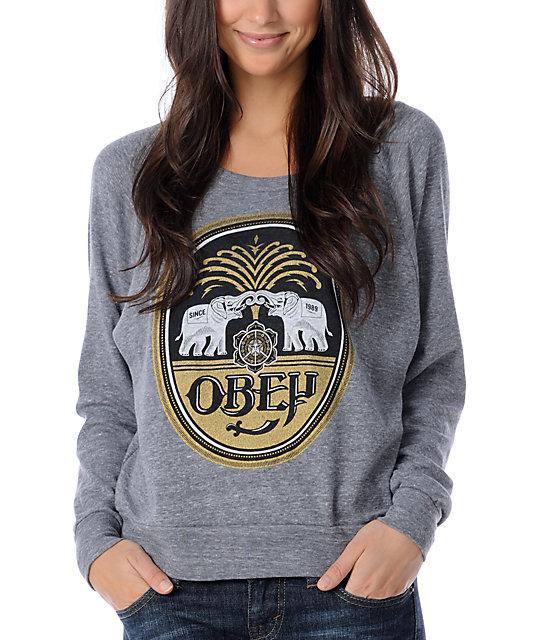 Obey IPA Grey Raglan Top