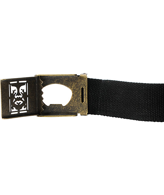 Obey Icon Black Web Belt