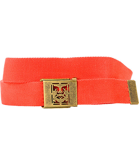 Obey Icon Red Web Belt