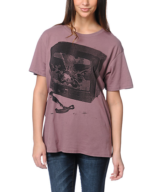 Obey Idiot Box Purple Tomboy T-Shirt