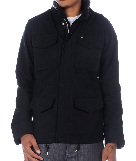 Obey Iggy Black Casual Jacket