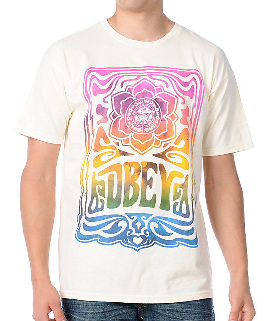 Obey In Concert Natural White T-Shirt