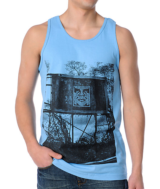 Obey In The Jungle Blue Tank Top