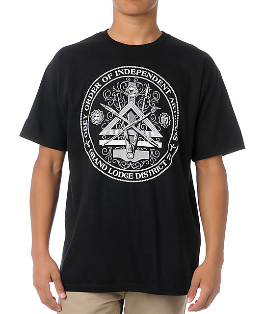 Obey Independent Artists Black T Shirt